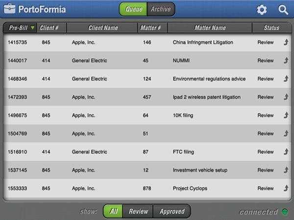 Portoformia iPad App